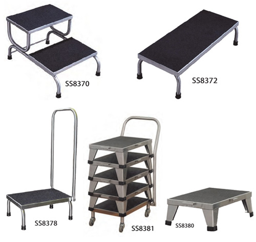 Stainless Steel Foot Stools & Transfer Carts