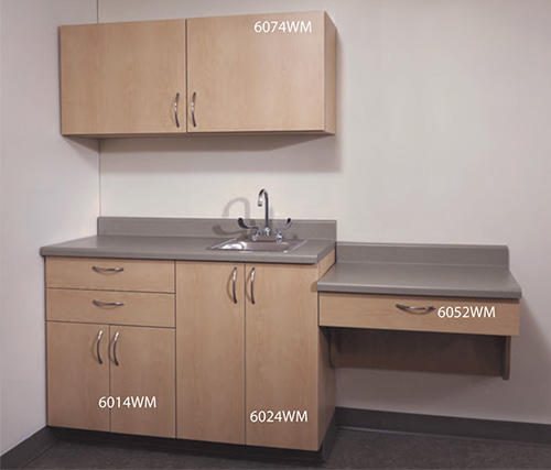 UMF Medical Wooden Cabinets in Fusion Maple Finish